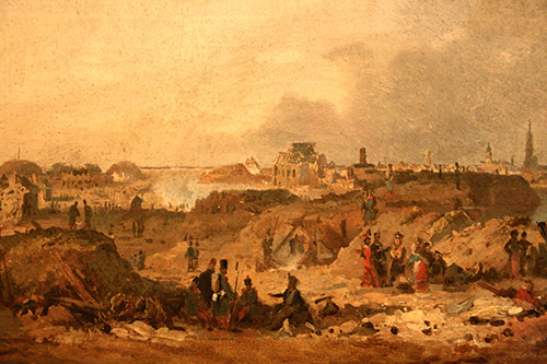 Citadelle d'Anvers après le bombardement de 1832 - de Braekeleer F (Elder)